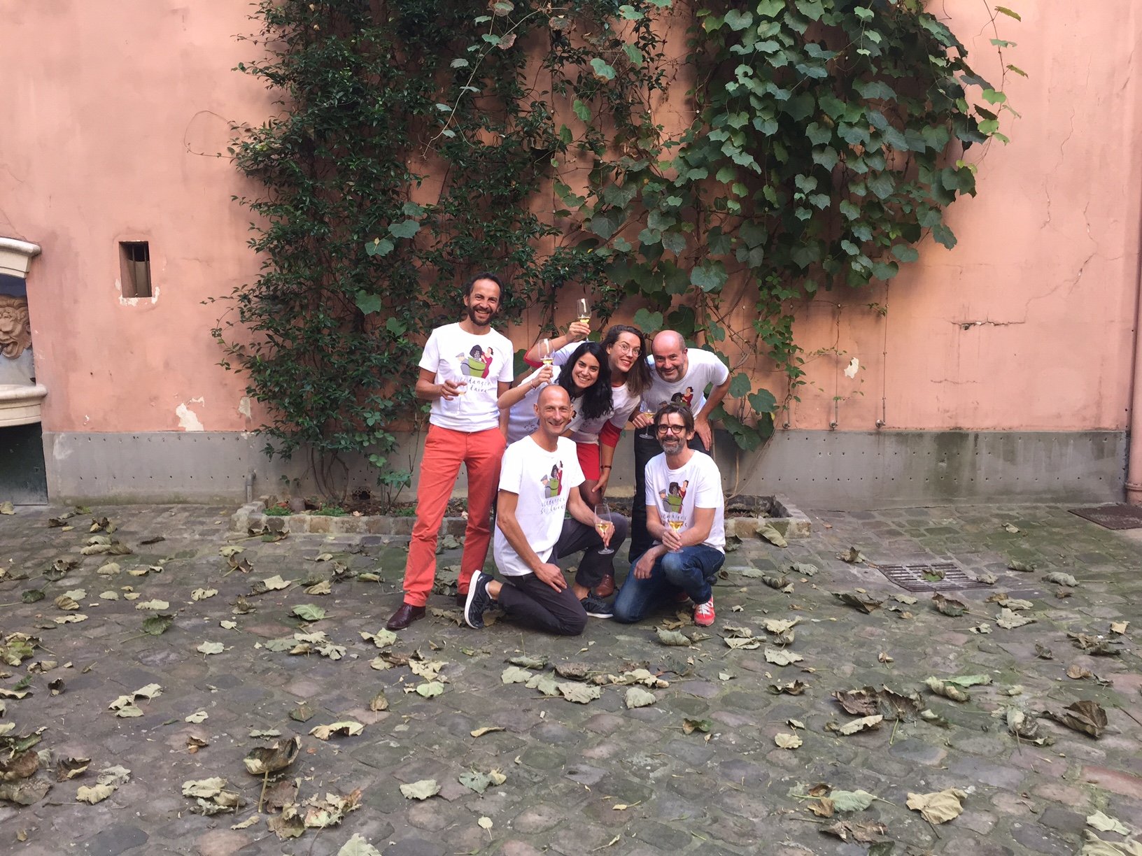 L'équipe des Vendanges solidaires